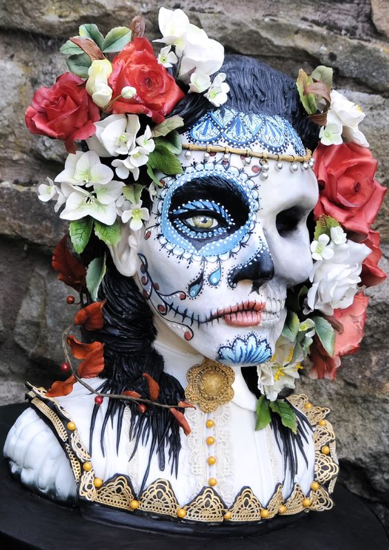 Mask Decorating Ideas Magnificent Scary Horror Face Skull Cake Decoration Idea  Cake Decorations Decorating Design