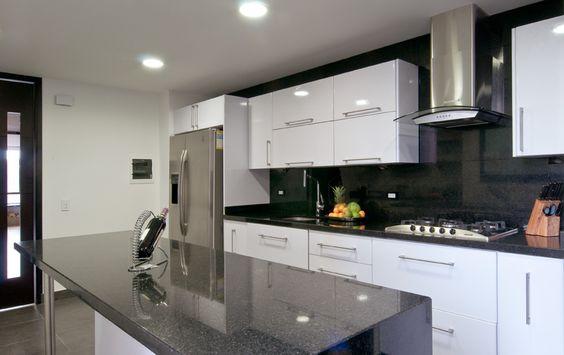 Cocina contemporanea gris blanco kitchen pinterest - Cocinas contemporaneas ...