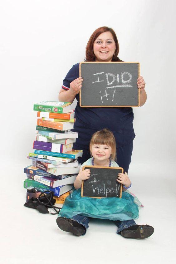 college graduation picture ideas for nurse - Nursing graduation pictures with little one