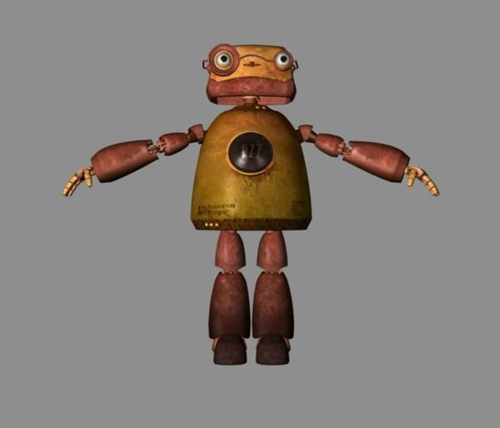 The robot in jack's little keeper animation. My role: texturing and rendering