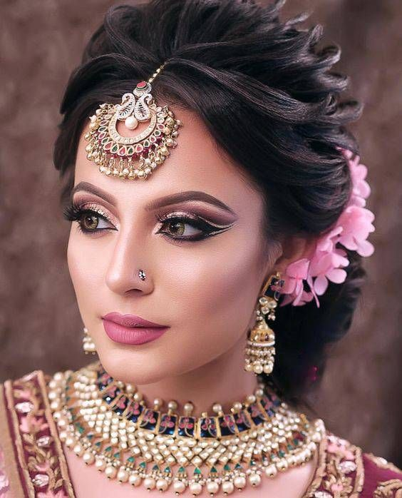 Bookeventz Choice Of Best Makeup Artist For Weddings Bridal Hairstyle Indian Wedding Bridal Hair Buns Indian Bride Makeup