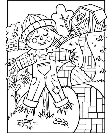Scarecrow Coloring Page Crayola Com Fall Coloring Pages Coloring Pages Thanksgiving Coloring Pages