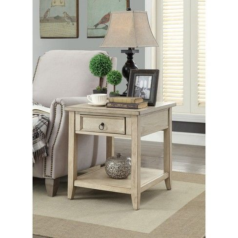 Summerville 1 Drawer End Table Cream Treasure Trove Target Furniture Living Room End Tables End Tables