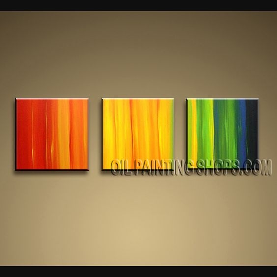 Enchant Modern Abstract Painting Oil Painting On Canvas For Living Room Abstract. This 3 panels canvas wall art is hand painted by Bo Yi Art Studio, instock - $125. To see more, visit OilPaintingShops.com