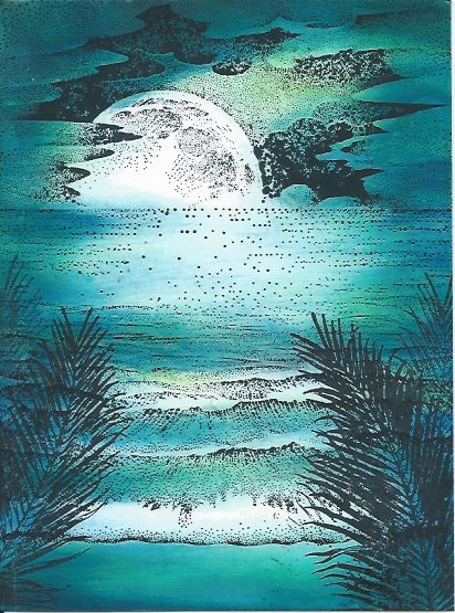 AS THE MOON RISES by The Griz - Cards and Paper Crafts at Splitcoaststampers