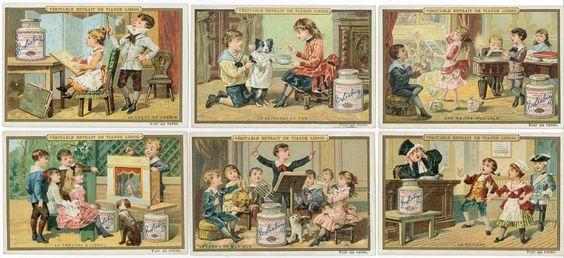 1887 - COMPAGNIE LIEBIG - 70 x 106 mm - SCENES ENFANTINES II. Série complète des 6[...]   Auction.fr