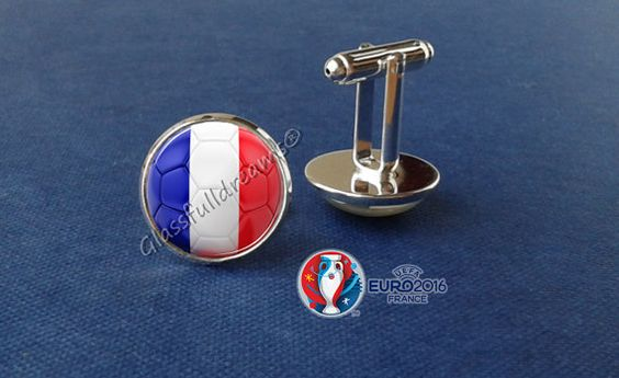 France 2016 Euro Cup France Group A  Cufflinks by Glassfulldreams