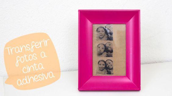 Como transferir fotos a cinta adhesiva y decorar// BigCrafts