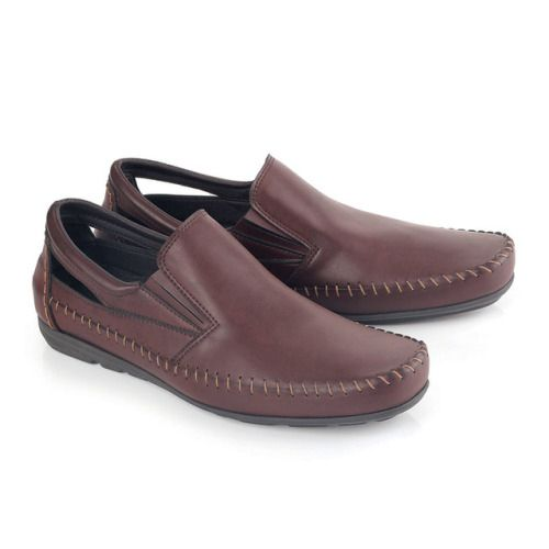 Sepatu Formal Pria Lia 573 Pvc Gosok Coklat 39 43 Rp Sepatu