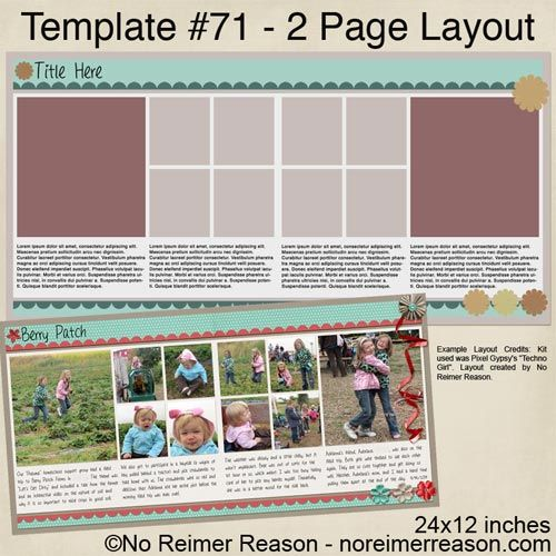 2 page layout - FREE Download - Digital Template from No Reimer Reason