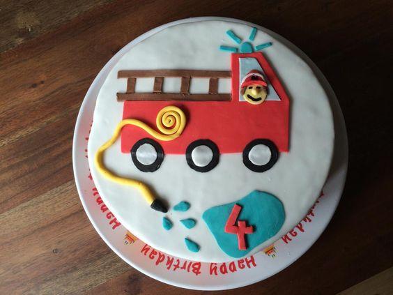 Feuerwehr Torte  Kindergeburtstag  Pinterest  Torte