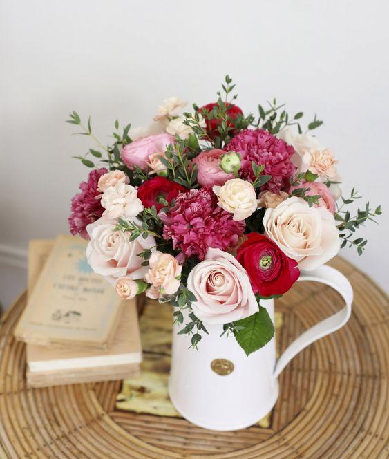 Un bouquet de fleurs champêtre Bergamotte