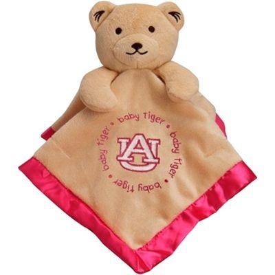 Auburn Baby Girl Security Bear Blanket - Pink