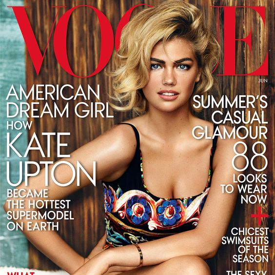 Kate Upton On The Cover Of Vogue; June 2013 Magazine Covers ...