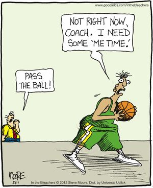 This is great and reminds me of some past and present players. In the Bleachers on Gocomics.com: