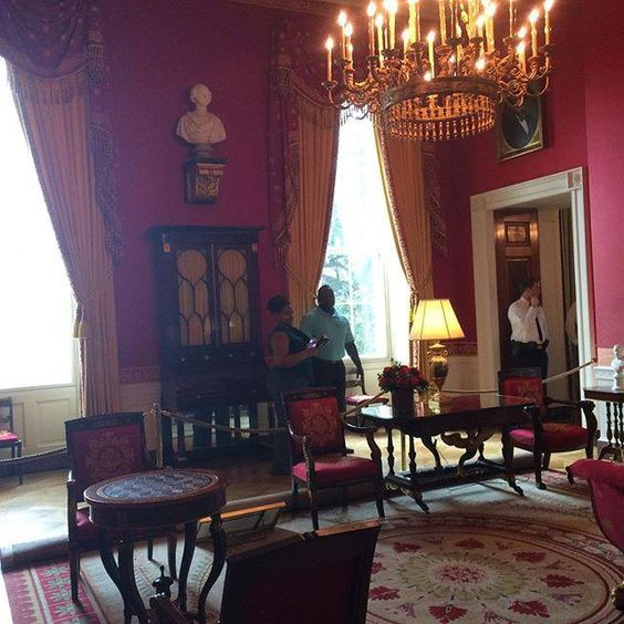 "The ""Red"" room #washingtondc #whitehouse by feathered_not_red_dot #WhiteHouse #USA"