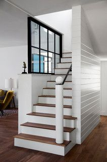 Modern Farm House - farmhouse - staircase - austin - by Tim Cuppett Architects
