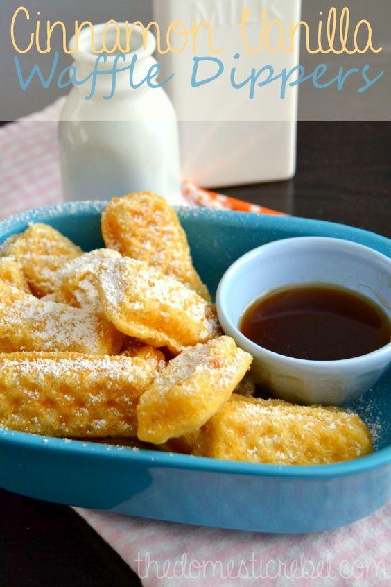 Cinnamon Vanilla Waffle Dippers