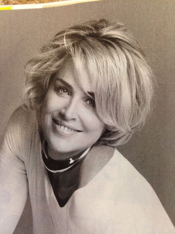 Sharon stone, Sharon stone hair and Love on Pinterest