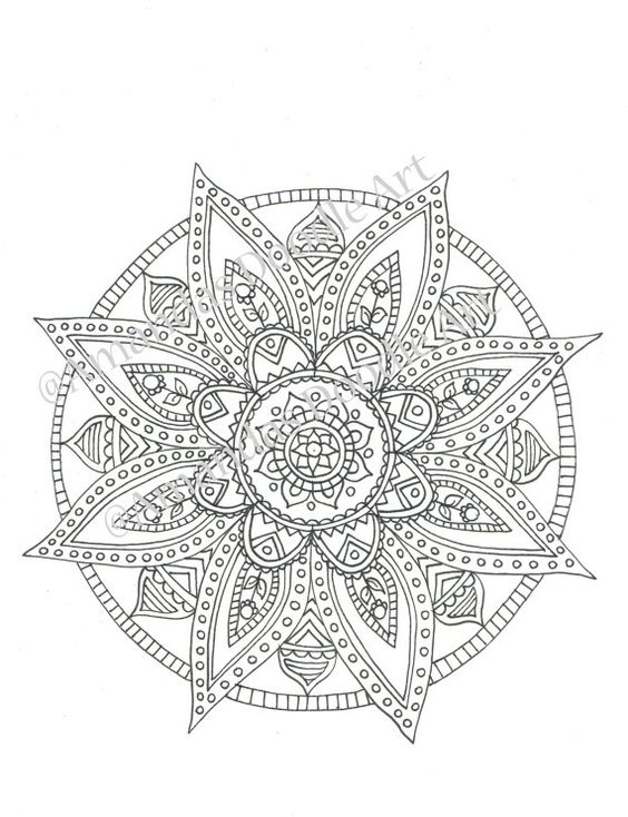 Colouring Page 5 by AmandaDoodleArt on Etsy