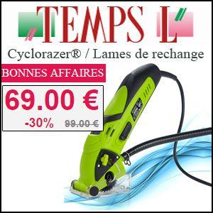 #missbonreduction; Bonnes affaires: 30% de réduction sur le Cyclorazer® / Lames de rechange chez Temps L. http://www.miss-bon-reduction.fr//details-bon-reduction-Temps-L-i366-c1826745.html