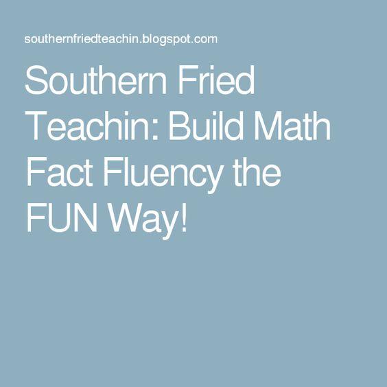Southern Fried Teachin: Build Math Fact Fluency the FUN Way!