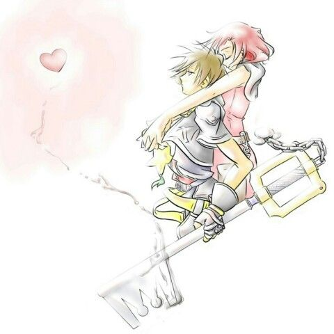 One of the Tattoos I really really want to get done in a water color look. Sora & Kairi from Kingdom Hearts. My favorite...
