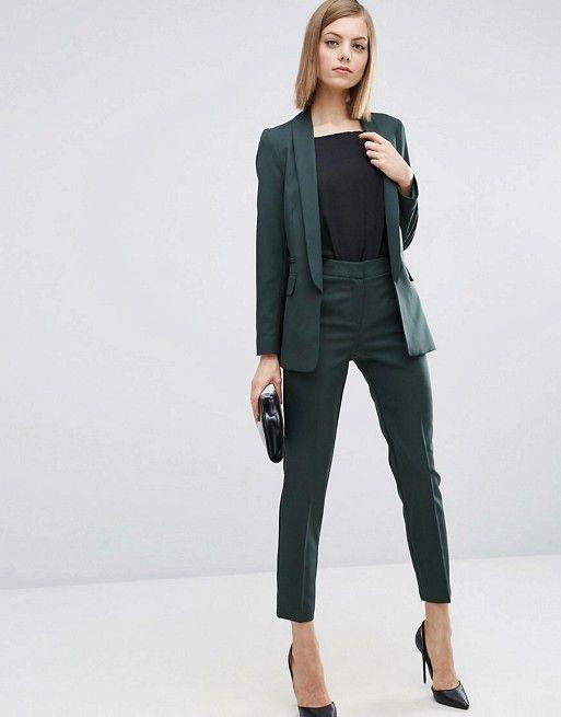 ASOS Premium Tailored Suit in Forest Green