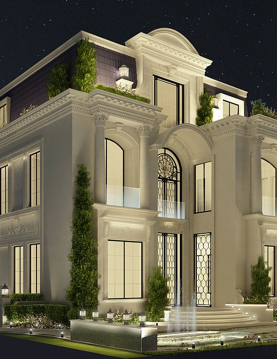 Luxury architecture design qatar doha by ions Style house fashion trading company uae