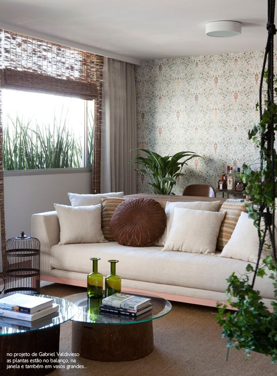 nature inside #decor #livingroom #green