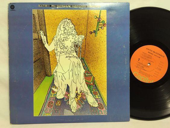 Kathi McDonald Insane Asylum Vinyl LP Capitol Records Blues Rock Album ST-11224