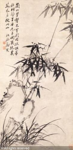 ZHENG XIE - ORCHID, BAMBOO AND ROCK