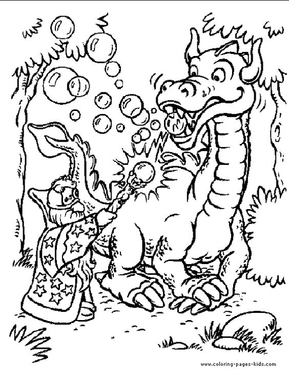 Dragon color page fantasy medieval coloring pages, color plate, coloring sheet,printable coloring picture