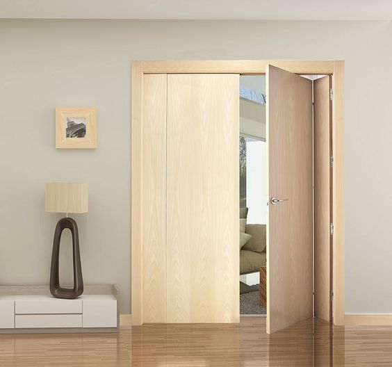 Puerta plegable en madera de maple de la casa - Puertas de madera plegables ...