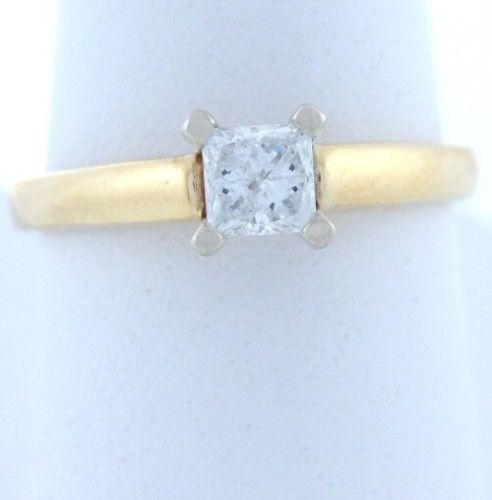.39ct PRINCESS DIAMOND ENGAGEMENT WEDDING RING 14K GOLD