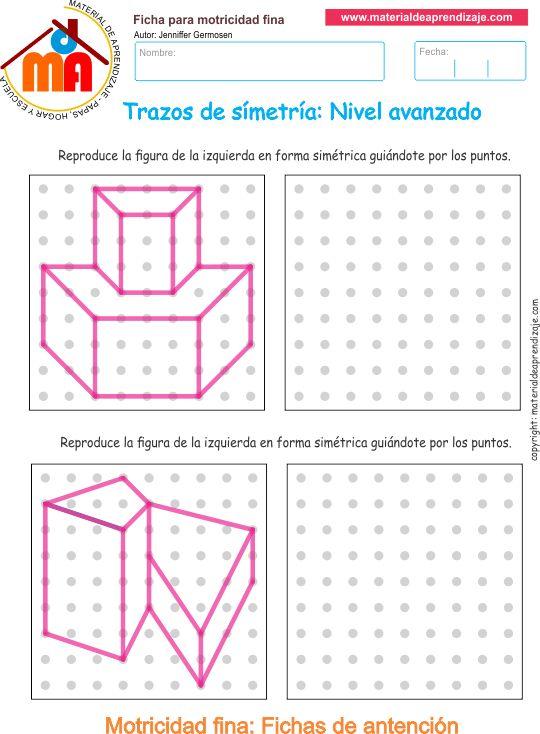 Trazos de simetría: Nivel avanzado 07