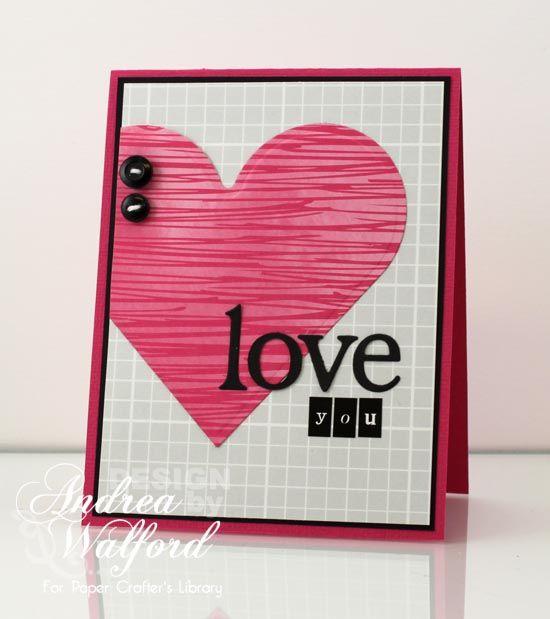 Love this CAS card using Spellbinders Hearts Dies!! LoveYouHeartCard550
