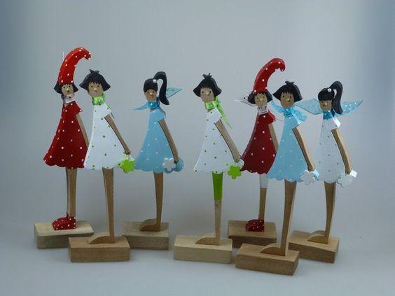 Deko-Objekte - Kleine Frühlingsfigur aus Holz - Blumenmädchen - ein Designerstück von mw-holzkunst bei DaWanda