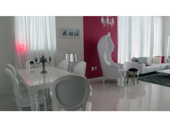 modern contemporary baroque designer white lacquer dining room ...