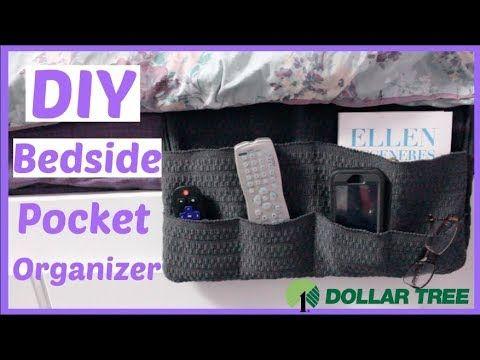 Diy Dollar Tree Bedside Organizer Caddy Dollar Store Room Decor