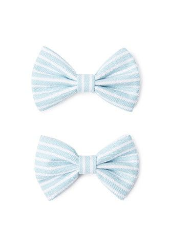 Striped Bow Hair Clip Set | Forever 21 - 1000131917