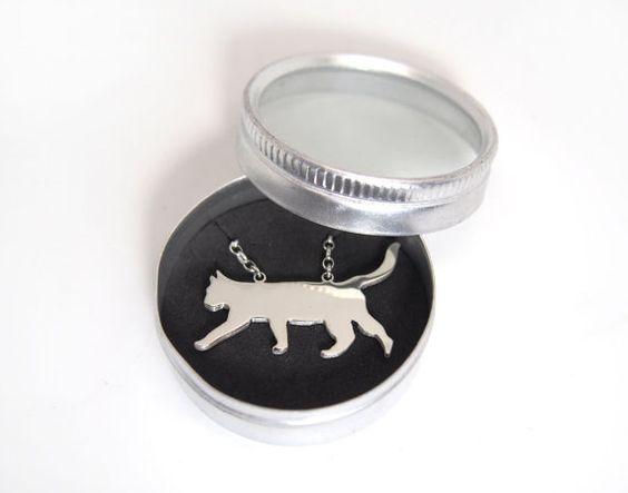 CAT-HALSKETTE in 925 Sterling Silber von Liviston auf Etsy