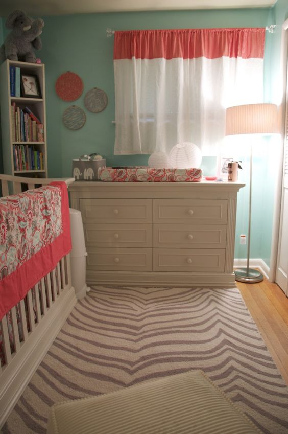 Aqua and Coral Room... Next color scheme for my little ladies ...