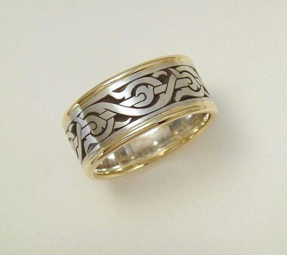 Viking Bands: Mens Wedding Band, Nordic Ring, Viking Ring, Men's Ring