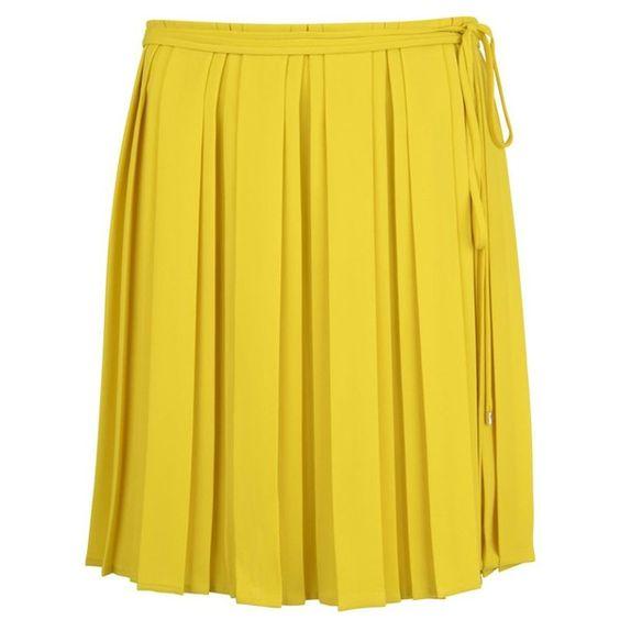 DIANE VON FURSTENBERG Chiffon Plisse Skirt