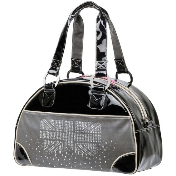 Pre-owned Zumba Fitness London Love Collection Shoulder Bag (1.330 NOK) ❤ liked on Polyvore featuring bags, handbags, shoulder bags, black, party handbags, bowler purse, union jack handbag, black handbags and pre owned handbags