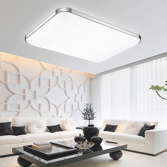 Hot sale square&rectangle modern ceiling lights lamp living room bedroom balcony home led lighting light fixtures