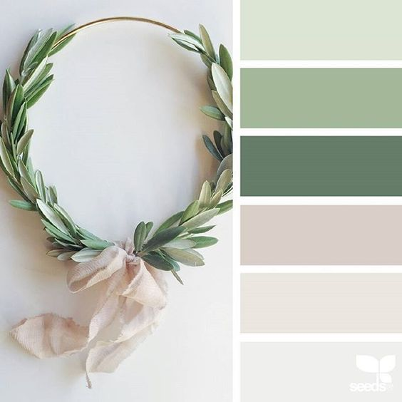 Neutral Cozy Palette. Add a little rose gold & a little less green... possibility