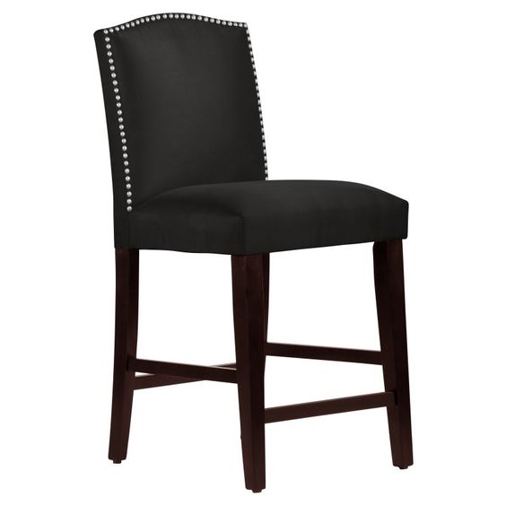 Skyline Nail Button Arched Counter Stool