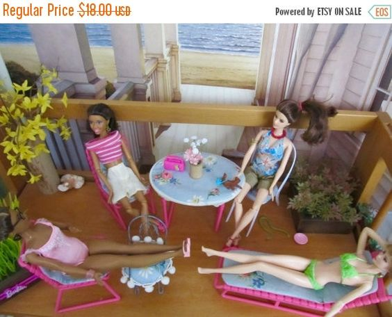 On Sale 25% Barbie Patio Furniture With New by DressMeDoll on Etsy